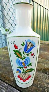 """Polish Vase Lubiana Porcelain Folk 10.5"""""""