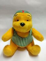 "McDonald's Winnie The Pooh Green Stripe Swimsuit 7"" Plush Soft Toy F/S (PTY107)"