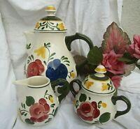 * einladender kaffeekern villeroy&boch bauernblume kanne sahnegießer zuckertopf