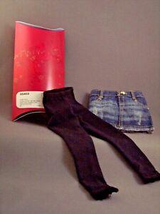 "WOW Cute NIB Denim Skirt & Leggings for LORIFINA 20"" Fashion Doll by HASBRO"