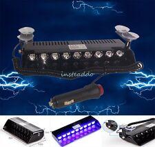 9 LED Car Truck Dash Beacon Light Hazard Strobe Warning Lamp Blue 12V