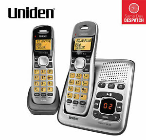 NBN Compatible Telephone 2x Cordless Phone Answering Handset Digital Home Office
