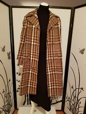 ZARA PLAID DOUBLE-BREASTED TRENCH COAT 2712/241 Camel Size L