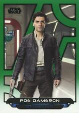 Star Wars Galactic Files 2018 Green [199] Base Card TLJ-12 Poe Dameron