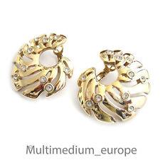 Pierre Lang Strass Zirkonia Ohrringe Ohrstecker Ohr clips vergoldet earrings