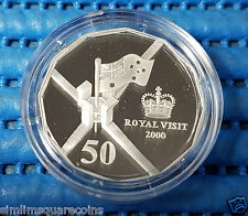 2000 Australia Royal Visit 50 Cents 999 Fine Silver Proof Coin