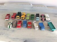 Bundle of 17 Vintage Lesney Matchbox Diecast Cars and Trucks Joblot Collection