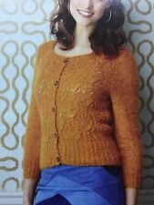 "Ladies Fitted Lace Weight Cardigan KNITTING PATTERN - Size 8-26 (32-50"")"