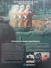 8/1981 PUB SPERRY SIMULATOR SIMULATION TANK DRIVER FIGHTER PILOT ORIGINAL AD