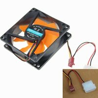 1Piece 8CM Silent Cooling Fan 80mm 25mm DC 12V For PC CPU Computer Chassis Case