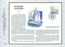 FEUILLET CEF / DOCUMENT PHILATELIQUE / LE BATEAU / LA POSTE / PORT CAMARGUE 1993