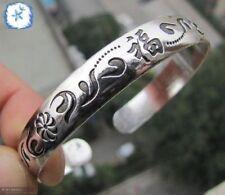 Tibetan Tibet Silver Totem Bangle Cuff Bracelet 011