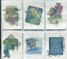 Shrek The Third Complete Tattoo Chase Card Set T1-6