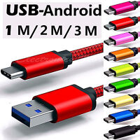 1M/2M/3M Micro USB Fast Charging Data Sync Cable Cord FOR Android Samsung LG HTC