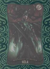 2014 Marvel Dangerous Divas 2 Emerald Parallel card 15 Hela 039/100 MINT! RARE!