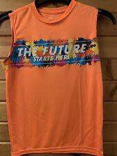 athletic shirts boys size Large 10 - 12  sleeveless orange