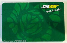 2008 Subway Canada Green ROSE Look collectible gift card  & Sleeve Fr/Eng