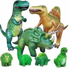 Jet Creations Dinosaur Bundle Inflatable Trex Triceratops Spinosaurs Squishy Toy