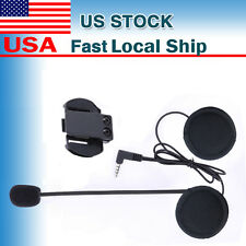 Mic/Speaker Headset+Clips for Motorcycle Bluetooth Helmet Interphone Intercom V6