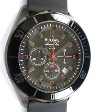 Bulova Marine Star Chronograph 100M - BLACKOUT - Bracelet & Rubber Strap - NEW