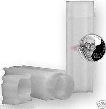 10 Square Coin Tubes Nickel Lock Cap CoinSafe Tube Stackable - Buffalo Barber