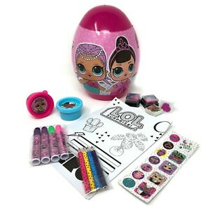 LOL Suprise Easter Egg Stationary Set - Girls School Gift Activity Art Set