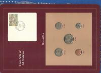 Coin Sets of All Nations Malaysia 1979-1984 UNC 1, 50 Sen 1984 10 Sen 1979