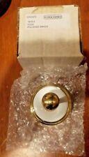 Ginger Yorkshire 1610-3 Single Polished Brass Hook NOS Free Shipping