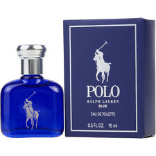 Ralph Lauren Polo Blue Men .5 / 0.5 oz 15 ml EDT Mini Travel Cologne Splash NIB