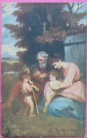 1910 Raphael Tuck Oilette Artist signed Picture Postcard PPC THE HOLY FAMILY