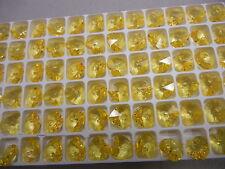36 preciosa heart shape pendants(top drilled)10.3x10mm sharp yellow