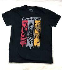 Game of Thrones Crew Neck Graphic Short Sleeve T-Shirt Black, Men's Size M