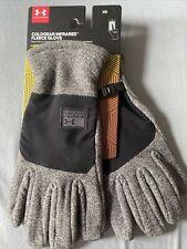 NEW Under Armour Coldgear Infrared Fleece Gloves Mens Medium Touchscreen