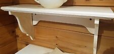 Pottery Barn Wood Shelving Antique White Distressed Home Wall Display 2' Shelf