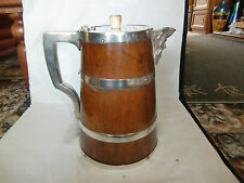 Late 19th Century Oak  Four Pint Ale Jug with Bacchus