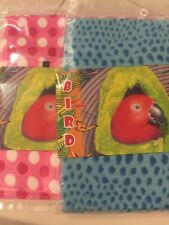 Bird Hut Blue Pink Extra LARGE Hanging Happy Hut Tent Plush Parrot Toy Bunk Bed