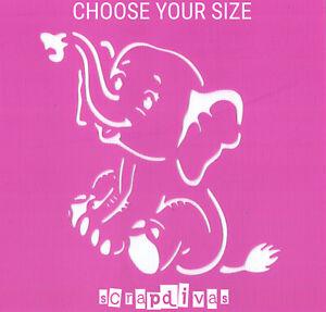 Scrapbooking - STENCILS TEMPLATES MASKS SHEET - Elephant Design 1301