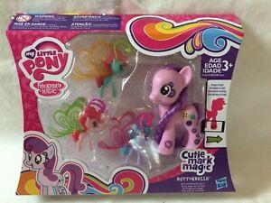 BNIB My Little Pony Cutie Mark Magic Button Belle and Friendship Flutters