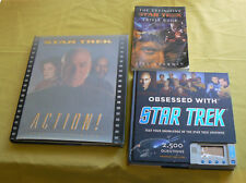 3 STARTREK books Obsessed with Star Trek electronic Trivia Behind the Scenes