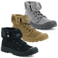 Palladium Mens Designer Pallabrouse Baggy Combat Military Desert Canvas Boots