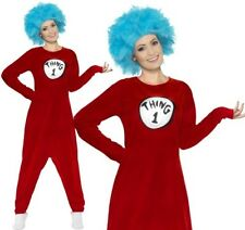 Ladies Cat in The Hat Licensed Fancy Dress Costume Dr Seuss Book Smiffys 27539 M - Medium
