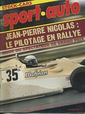 SPORT AUTO n°195 04/1978 avec encart
