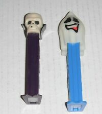Pez--Halloween Ghost + Skull...2 pieces--B
