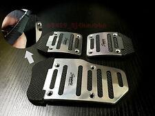 Silver Aluminium Alloy & PVC Racing Sports Manual Car Brake Foot Anti-slip Pedal