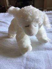 BABY PLUSH GUND WINKY WHITE LAMB SHEEP RATTLE STUFFED ANIMAL NURSERY TOY GIFT