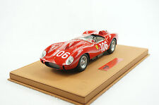 1/18 BBR FERRARI 250 TR 1958 TARGA FLORIO RED DELUXE LEATHER BASE 5 PIECES MR