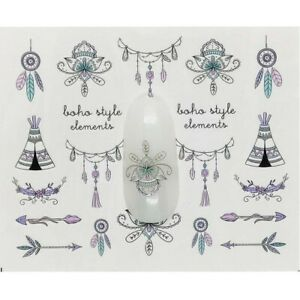 Women Nail Art Decorations Stickers Decal Water Transfer Tips Temporary Tattoos