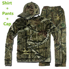 Woodland Bionic Tactical Hunting Camouflage Clothes Ghillie Suit Shirt Pants Cap