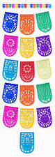 "PAPEL PICADO ""Medium All Occasion"" 5m (16.4ft) MEXICAN PAPER BUNTING BANNERS"