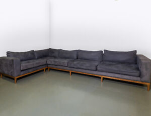 Sofa Design Custom Built Velvet and Wooden Corner Sofa: RRP £8500